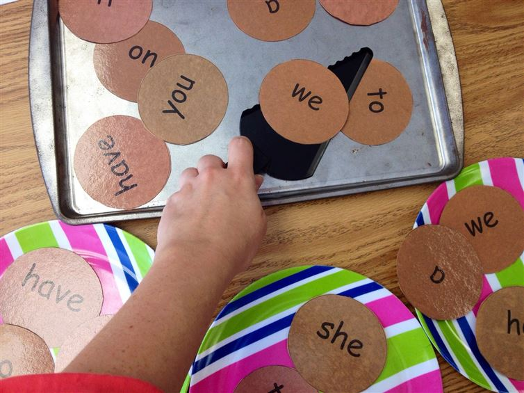 "Sight word ""cookies"" are a cute idea."