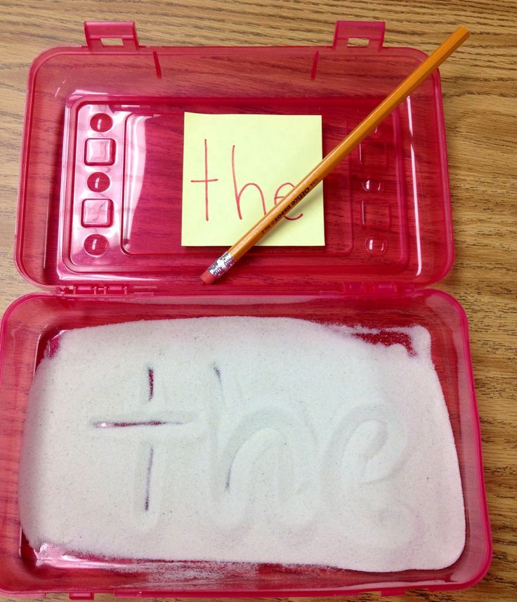 Make a re-usable sight-word sandbox.