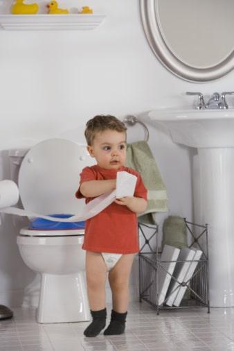 تنظيف الطفل العنيد من الحفاظ